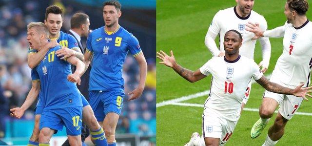 Archivo - Ucrania e Inglaterra se enfrentarán en cuartos de final de la Eurocopa