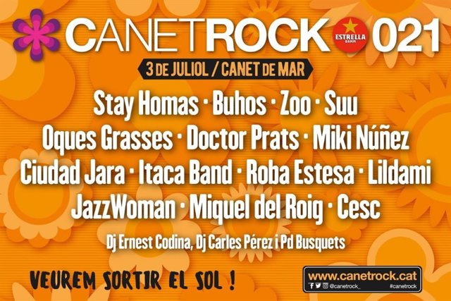 Imatge del cartell del Festival Canet Rock 2021