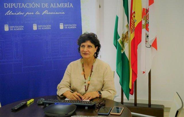 Carmen Navarro durante su intervenciónen la UIM