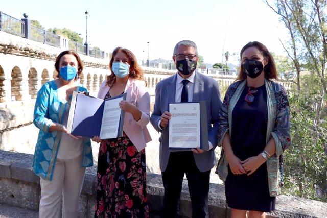 Junta de Andalucía y Diputación de Málaga firman un protocolo sobre el cambio climatico
