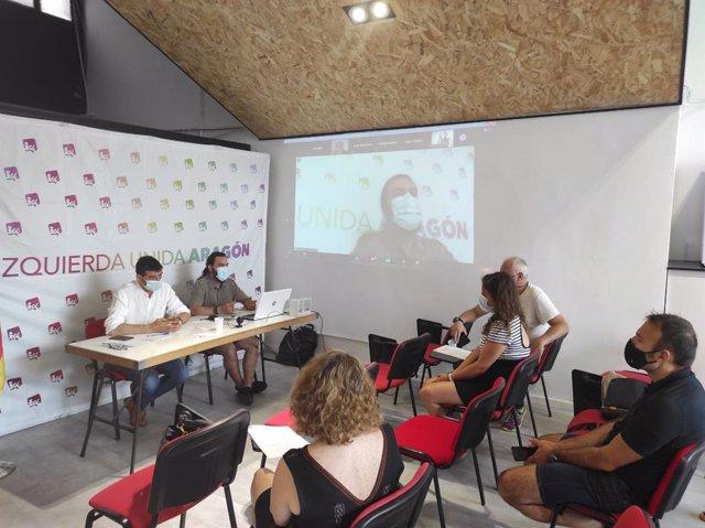 Coordinadora autonómica de IU Aragón, a 3 de julio de 2021, Zaragoza.