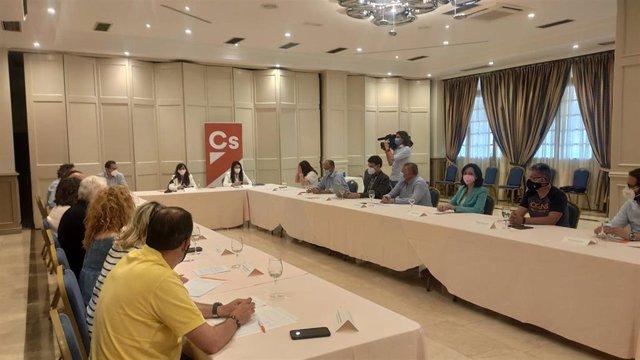 Reunión bimensual del Comité Autonómico de Ciudadanos en Palencia.