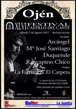 Cartel Festival Flamenco Castillo del Cante de Ojén