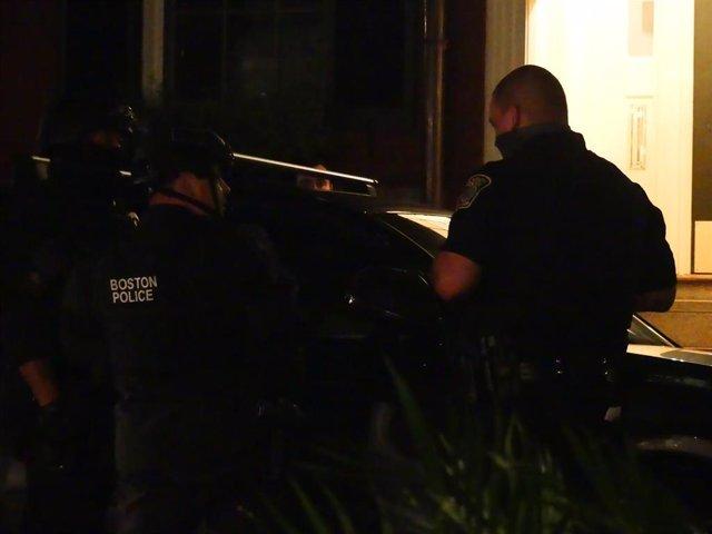 Policía en Boston, Estados Unidos