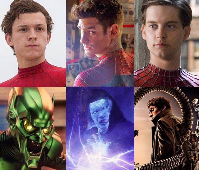 Los Seis Siniestros de Spider-Man de No Way Home luchan contra tres Peer Parker en este genial póster fanmade