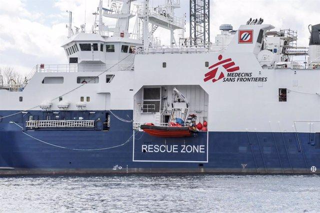 Archivo - Barco de rescate 'Geo Barents', gestionado por MSF