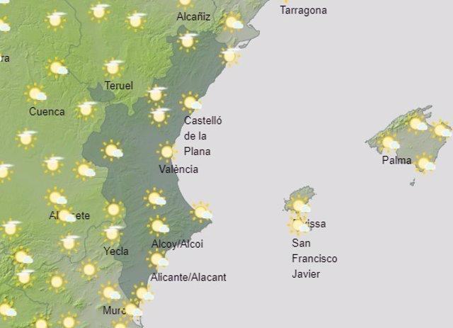 Predicción del tiempo para este domingo 4 de julio