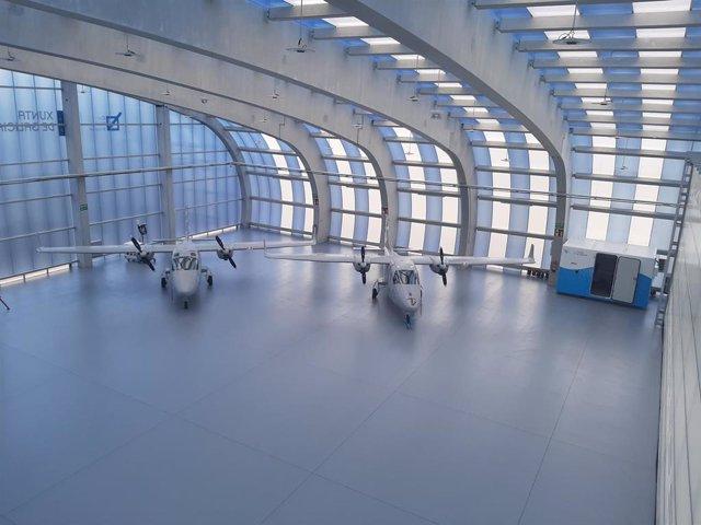 Imagen de los drones de Indra en Galicia