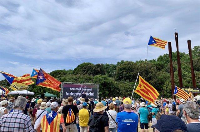 Acte de l'ANC a Arenys de Munt (Barcelona)