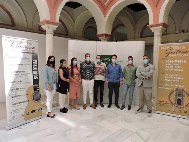 Imagen de la presentación de la XLVII Fiesta de la Guitarra de Marchena en la Casa de la Provincia.