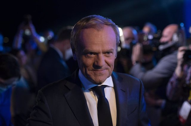 03 July 2021, Poland, Warsaw: Former EU Council President Donald Tusk attends the National Council of the Civic Platform Party. Photo: Aleksander Kalka/ZUMA Wire/dpa