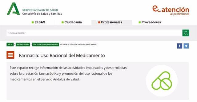 Nuevo apartado en su web sobre uso racional del medicamento para sanitarios y usuarios.