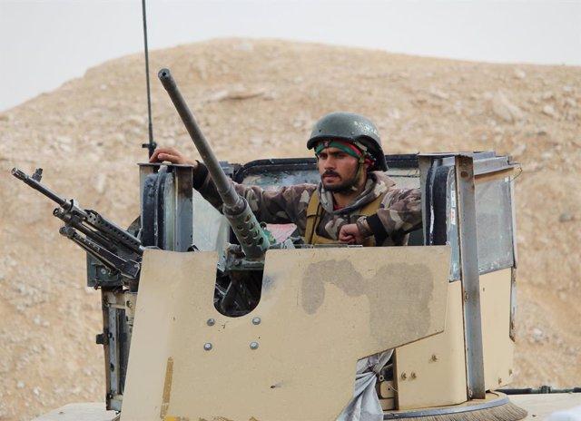 Un militar en Afganistán