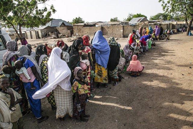 Archivo - Victimas del conflicto en el noreste de Nigeria
