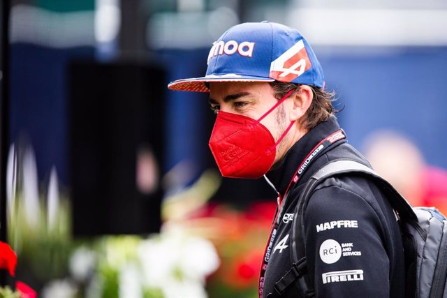 ALONSO Fernando (spa), Alpine F1 A521, portrait during the Formula 1 Grosser Preis Von Osterreich 2021, 2021 Austrian Grand Prix, 9th round of the 2021 FIA Formula One World Championship from July 2 to 4, 2021 on the Red Bull Ring, in Spielberg, Austria -