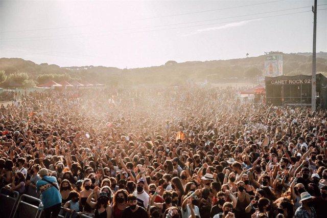 Imagen del festival Canet Rock 2021 (Barcelona)