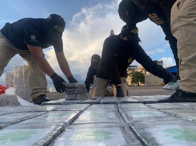 Incautación de drogas en Honduras