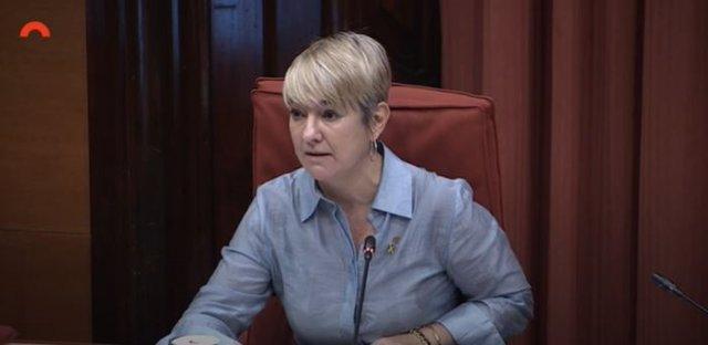 La consellera de Justícia, Lourdes Ciuró, compareix en seu parlamentària