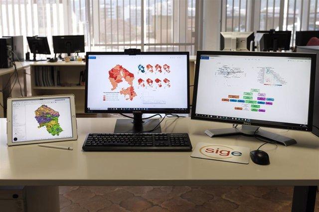 El Sistema de Información Geográfica de la Diputación de Córdoba.
