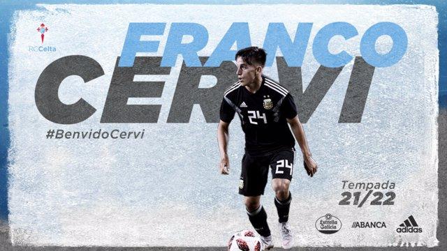 El argentino Franco Cervi firma con el Celta hasta 2024