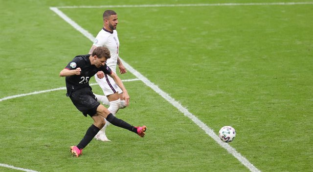 Thomas Muller of Germany during the UEFA Euro 2020, round of 16 football match between England and Germany on June 29, 2021 at Wembley stadium in London, England - Photo Jurgen Fromme / firo Sportphoto / DPPI