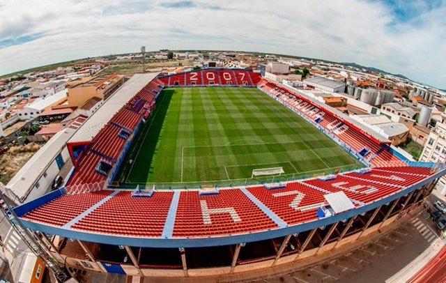 Estadio Francisco de la Hera, donde juega el Extremadura UD.