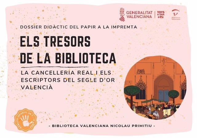 La Biblioteca Valenciana Nicolau Primitiu ha publicado en su web el taller 'Los tesoros de la Biblioteca: La Cancillería Real y los escritores valencianos del Siglo de Oro'.