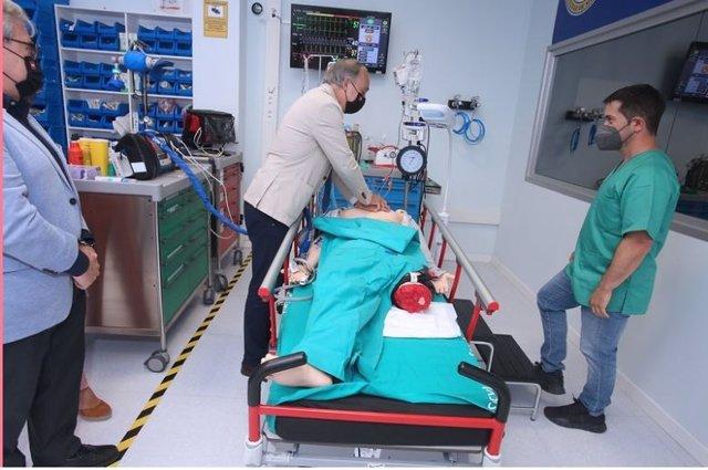 El recto en el centro de simulación clínica de la UVA