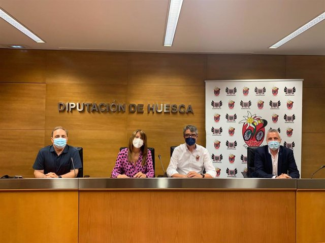 Presentación del Campeonato de España de BTT, que se celebrará en Sabiñánigo (Huesca), entre el 9 y el 11 de julio.
