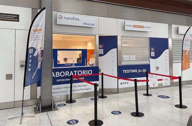 Laboratorio COVID en el aeropuerto de Gran Canaria