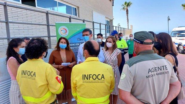 Crespo en su visita a Adra (Almería)
