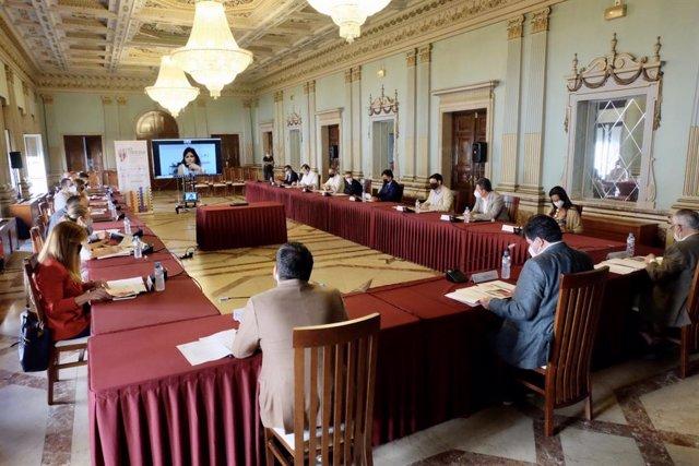 Reunión del comité consultivo del I Congreso Gastronómico Iberoamericano.