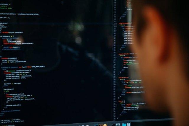 Archivo - Código informático, ciberseguridad.