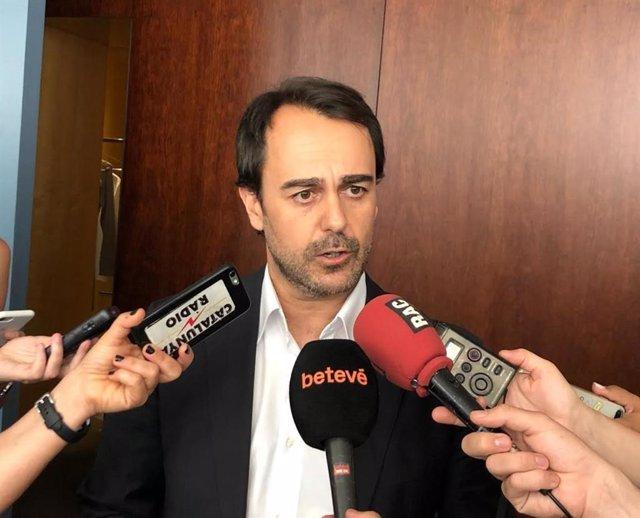 Archivo - Arxiu - El portaveu del grup municipal del PP a l'Ajuntament de Barcelona, Óscar Ramírez