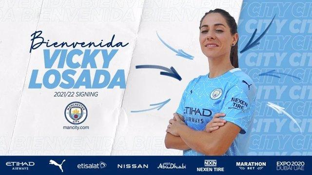 La jugadora internacional española Vicky Losada jugará en el Manchester City hasta 2023