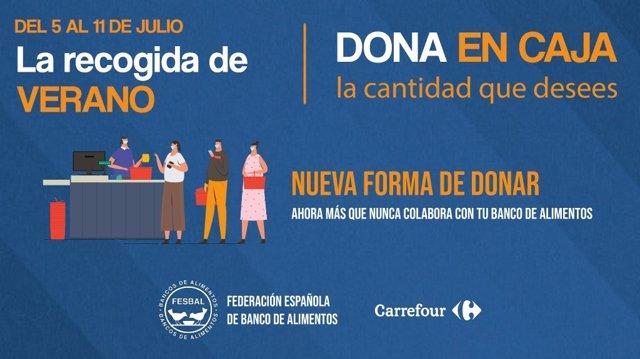 Carrefour y su Fundación ponen en marcha la campaña 'La Recogida de Verano', que tendrá lugar desde el 5 al 11 de julio, a favor de FESBAL