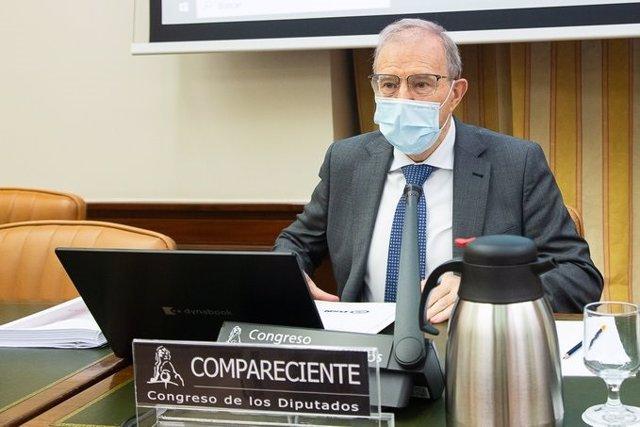 Archivo - El director del Departamento de Seguridad Nacional, general Miguel Ángel Ballesteros, en su comparecencia ante el Congreso el pasado mes de mayo