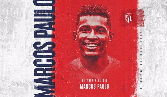 El Atlético de Madrid ficha a Marcos Paulo