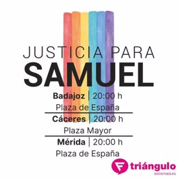 La Fundación Triángulo de Extremadura se suma a las concentraciones por el asesinato de Samuel