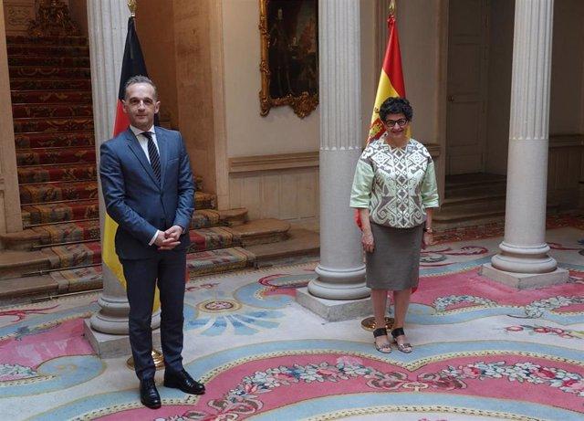 Heiko Maas y Arancha González Laya