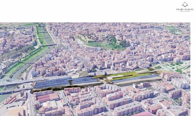 Imatge del projecte d'un nou centre comercial a Lleida