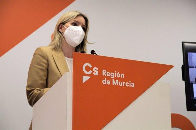 La excoordinadora de Ciudadanos en Murcia Ana Martínez Vidal, diputada en la Asamblea Regional.