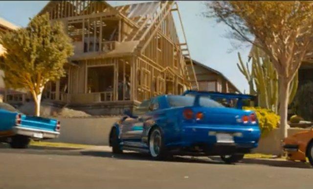 El Nissan azul del final de Fast and Furious 9