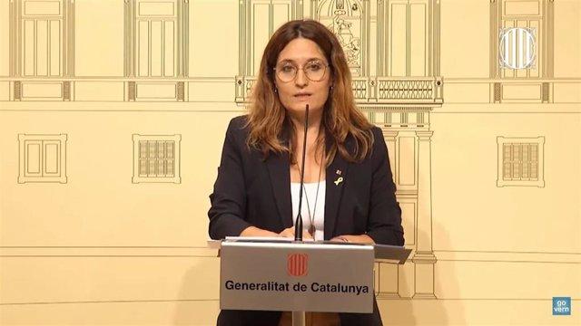 La consellera de Presidencia, Laura Vilagrà.