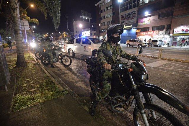 Archivo - Despliegue militar en Cali en respuesta a las protestas en Colombia