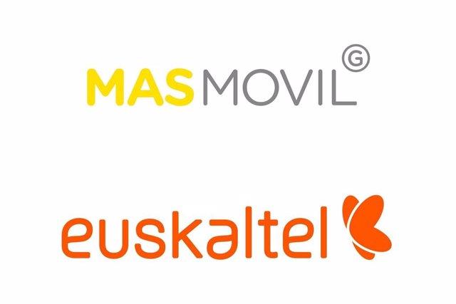 Archivo - Arxiu - Els logotips de MásMóvil i Euskaltel