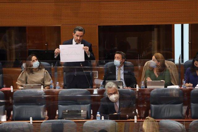 Archivo - Diputados de Vox en la Asamblea de Madrid.
