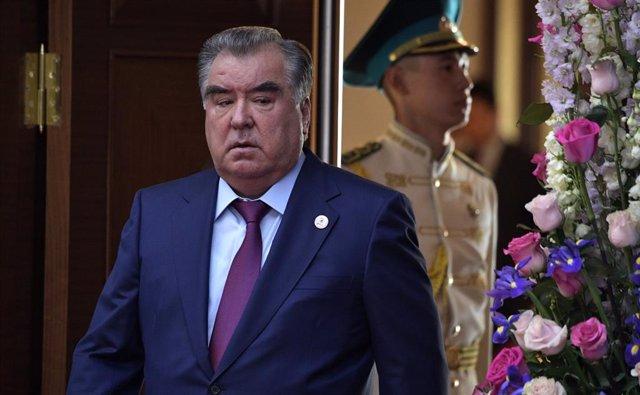 Archivo - El presidente de Tayikistán, Emomali Rahmon