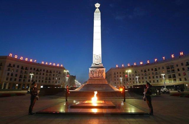 Ceremonia en recuerdo de la Gran Guerra Patriótica en Minsk