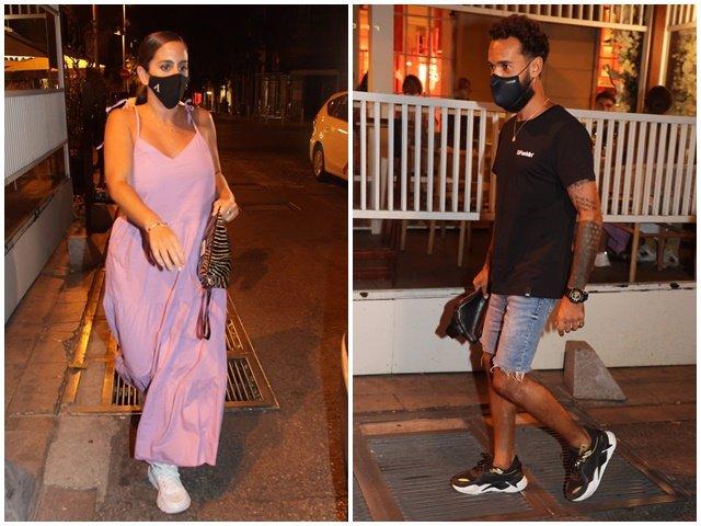 Anabel Pantoja y Omar Sánchez abandonaron por separado el restaurante en el que cenaron con amigos